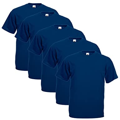 Fruit of the Loom Original T 5-Pack Logo Men's T-Shirt: Amazon.de:  Bekleidung