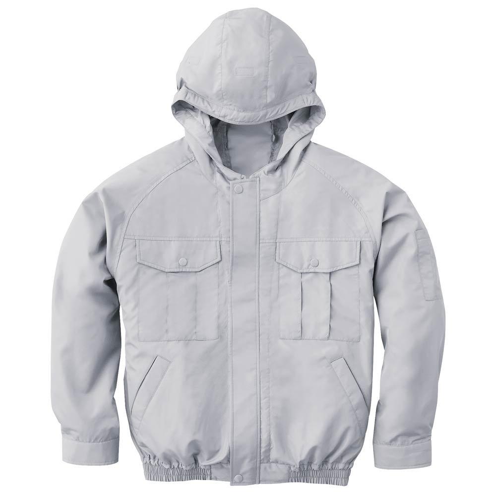 空調服 不織布ジャンパーグレーファン電池ボックスセット 3191 B07DFC7PJQ L|ネイビー