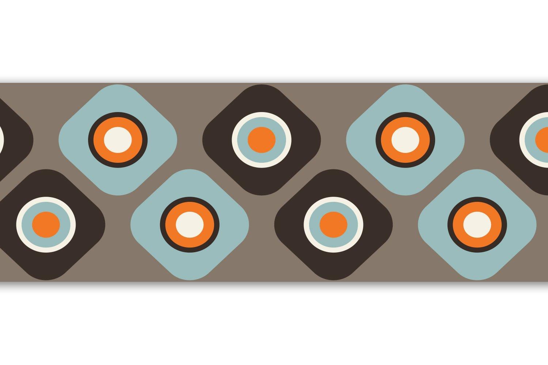 Selbstklebende Bordü re 'Cappucchino Cupcake', 4-teilig 560x15cm, Tapetenbordü re, Wandbordü re, Borte, Wanddeko,braun, blau wandmotiv24