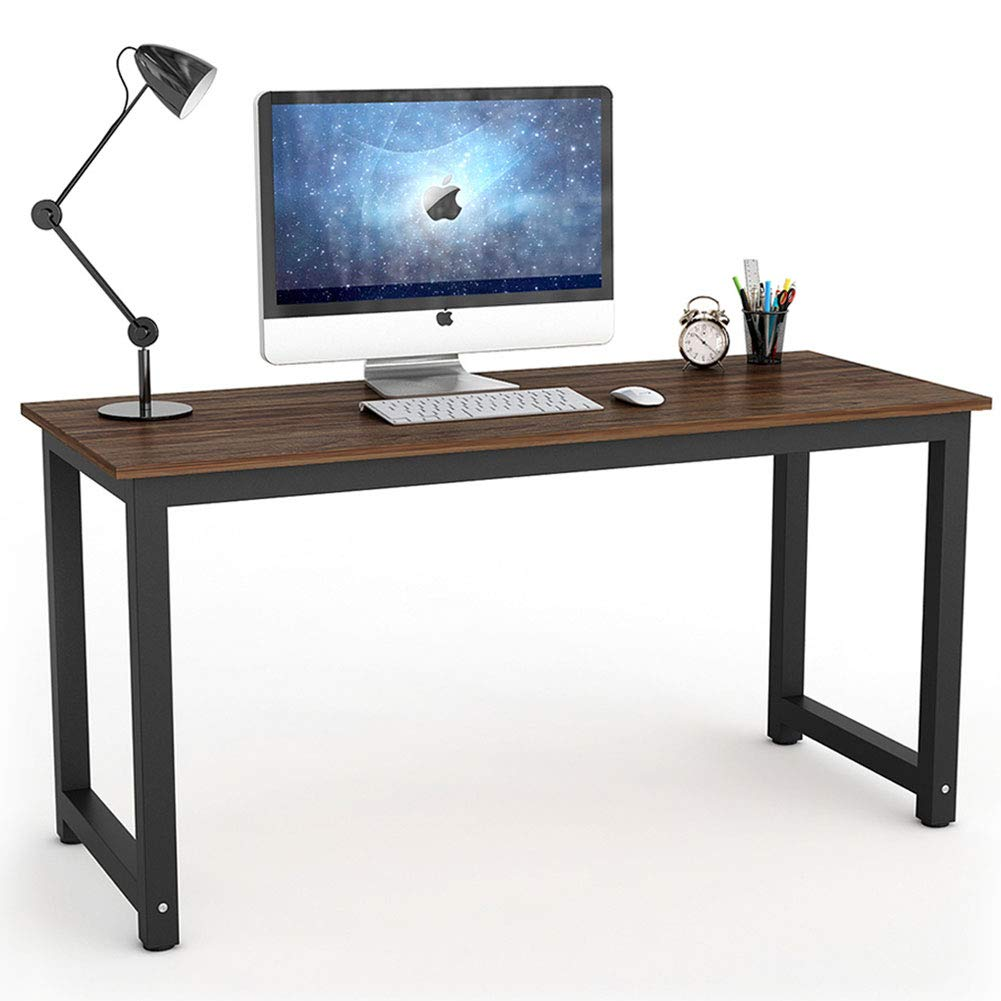 Tribesigns Vintage Computer Desk, 55 inch Large Office Desk Computer Table Study Writing Desk for Home Office, Oak Brown by Tribesigns