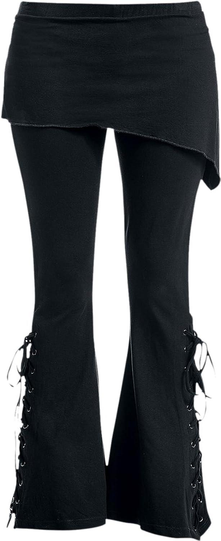 Spiral - Womens - URBAN FASHION - 2in1 Boot-Cut Leggings with Micro Slant Skirt