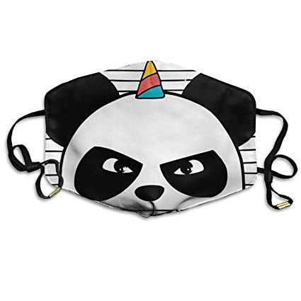 Amazon.com : Bennett11 Ninja Panda Unicorn Face Mask Ear ...