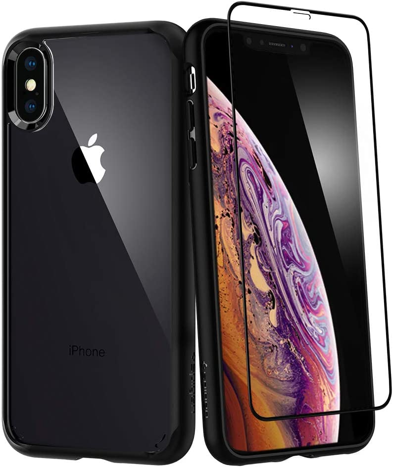 Spigen Ultra Hybrid 360 Designed for iPhone Xs Case (2018) / Designed for iPhone X Case (2017) Tempered Glass Screen Protector Included - Matte Black