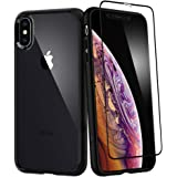 Spigen Ultra Hybrid 360 Designed for iPhone Xs Case (2018) / Designed for iPhone X Case (2017) Tempered Glass Screen Protecto