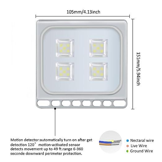 20W LED Blanco frío IP67 impermeable Foco Proyector Reflector de la Lámpara LED Seguridad Luz Brillante luz de Inundación al aire Libre 220V Para el Jardín, ...