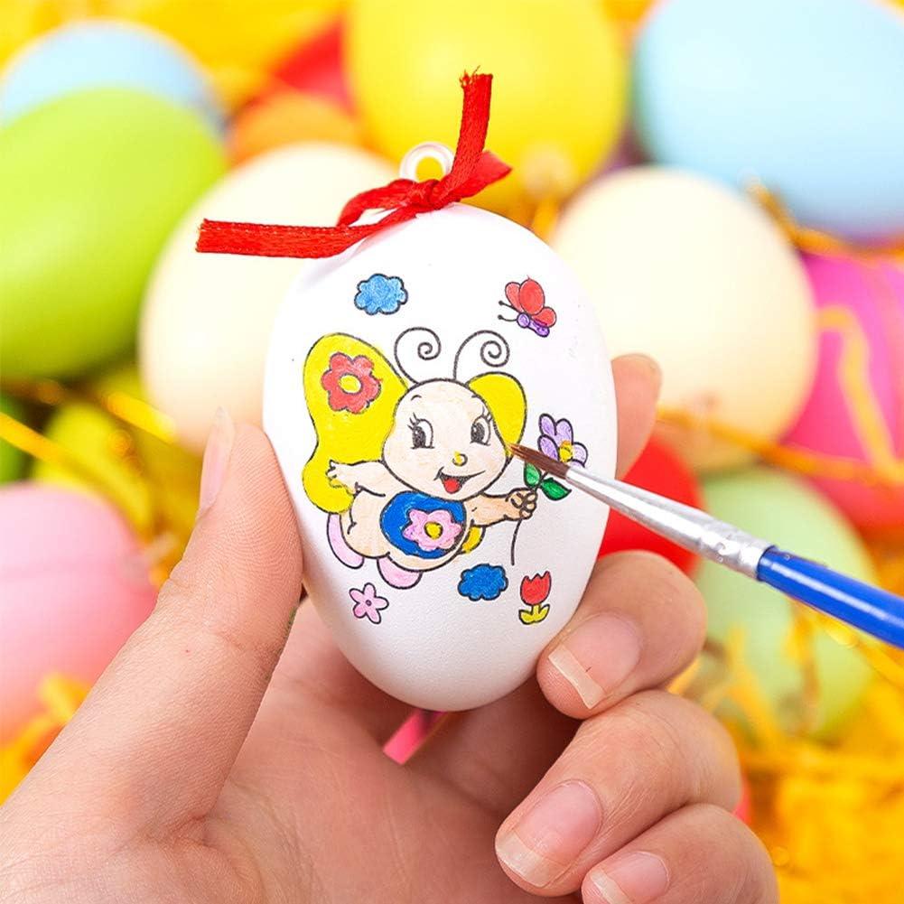 24 Pezzi Uova Pasquali da Appendere per Dipingere E Decorare Mestieri Fai-da-Te Pasquali FANDE Uova di Pasqua Decorazioni
