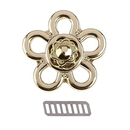 JENOR Magnetic Clasp Turn Lock Twist Locks Metal Hardware For DIY Handbag Bag Purse Home & Kitchen Haberdashery