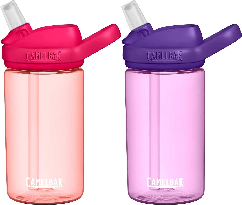 CamelBak Eddy+ Kids 14oz BPA-Free Water Bottle with Straw, 2-Pack