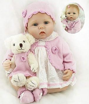 22 Pulgadas 55cm Muñecas Reborn Baby Dolls Bebe Reborn Niña Suave Vinilo de Silicona Magnético Chupete Lifelike Ojos Abiertos Girl Bebé Recién Nacido ...