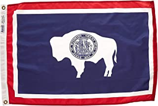product image for Annin Flagmakers Model 146150 Wyoming Flag Nylon SolarGuard NYL-Glo, 2x3 ft, 100% Made in USA to Official State Design Specifications
