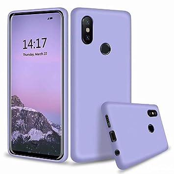 DYGG Funda para Xiaomi MI 6X/A2 Silicona Líquida Delgado Protección Suave TPU Gel Case [Tecnología de Cojín de Aire] Anti-Choque Carcasa - Púrpura