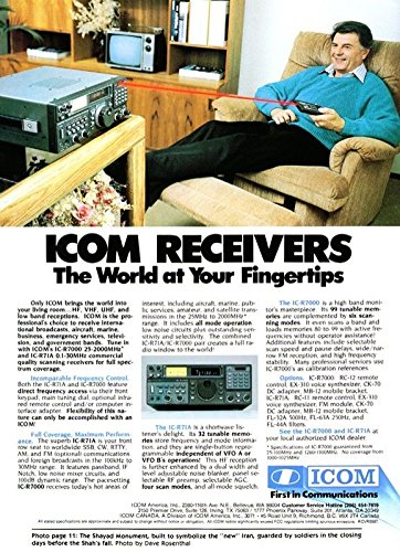 Icom Radio Manual (Manuals + Documentation Package for the ICOM R-71A Communications Receiver Photocopy reproduction in a 3 Ring Binder)