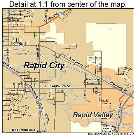 Amazon.com: Image Trader Large Street & Road Map of Rapid City ...