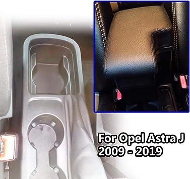 Doppellagige Schwarze Leder Armlehne Für Astra J 2009 2019 Mittelkonsole Aufbewahrungsbox Armlehne Auto