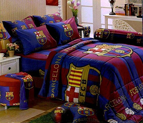 Charming Barcelona Football Club Official Licensed Bedding In Bag Set (Queen  Size,BC001);