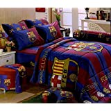 Barcelona Football Club Official Licensed Bedding In Bag Set (King Size,BC001); 1 Four Season Comforter with 4 pieces of Bed Fitted Sheet Set