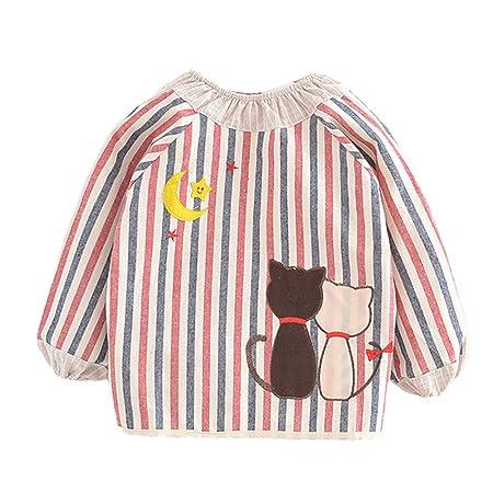 Fansi - 1 Delantal de algodón para bebé, Manga Larga, diseño de ...