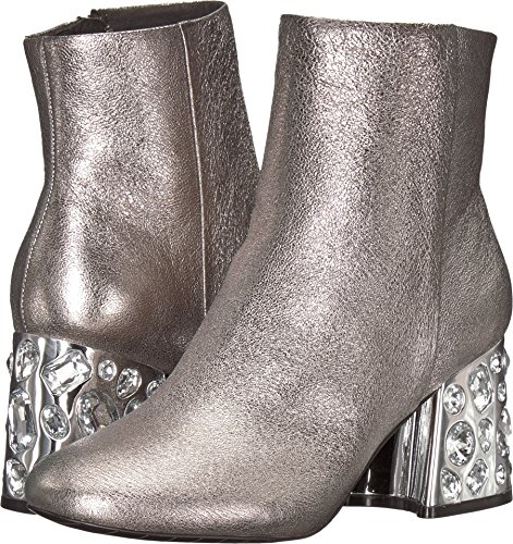 Stivaletto Kenneth Cole New York Rosé Suede - Donna In Pelle Argento