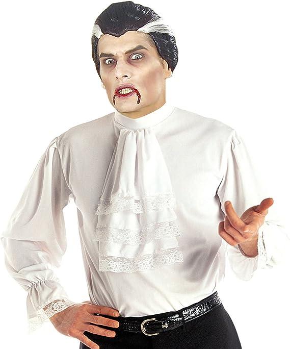 NET TOYS Camisa de Volantes Blanca Camiseta Medieval M/L 50/52 Camiseta Masculina barroca con Vuelo Ropa Medieval Hombre Vestimenta Vampiro Disfraz Noble Renacimiento: Amazon.es: Juguetes y juegos