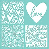 Kaisercraft T622 Template 12''X12''-Love Quarters