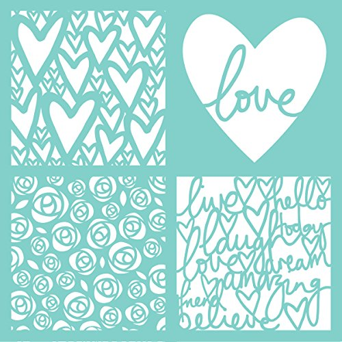 Kaisercraft T622 Template 12''X12''-Love Quarters by Kaisercraft