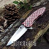 New SPRING ASSIST FOLDING POCKET Knife Femme Fatale Red Lip Girl Women FF-A009RD
