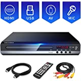 Sandoo DVD Player for TV, Multi-Format Region Free DVD CD Player, HDMI and AV Cable Included, USB/MIC Input for TV, Upgraded Remote, NOT Blu-ray DVD Player, Model MP2206