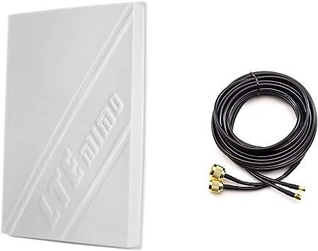 3G/4G LTE 14dBi Outdoor Panel Antenna 800-2600MHz + Duplex Cable 10m