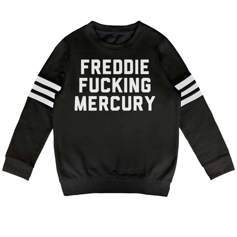 HGT-YUS Toddler Crewneck Cotton Long Sleeve Freddie_Mercury_Flag- Hooded Sweatshirt for Boys and Girls