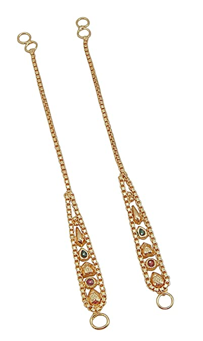 874fa6f180978 Jwellmart Women's Diva Collection Enamel Work Earrings  Extensions/Support/Ear chains
