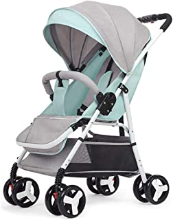 Baby Stroller can sit and Lie Down Foldable Baby Stroller (Color : C)