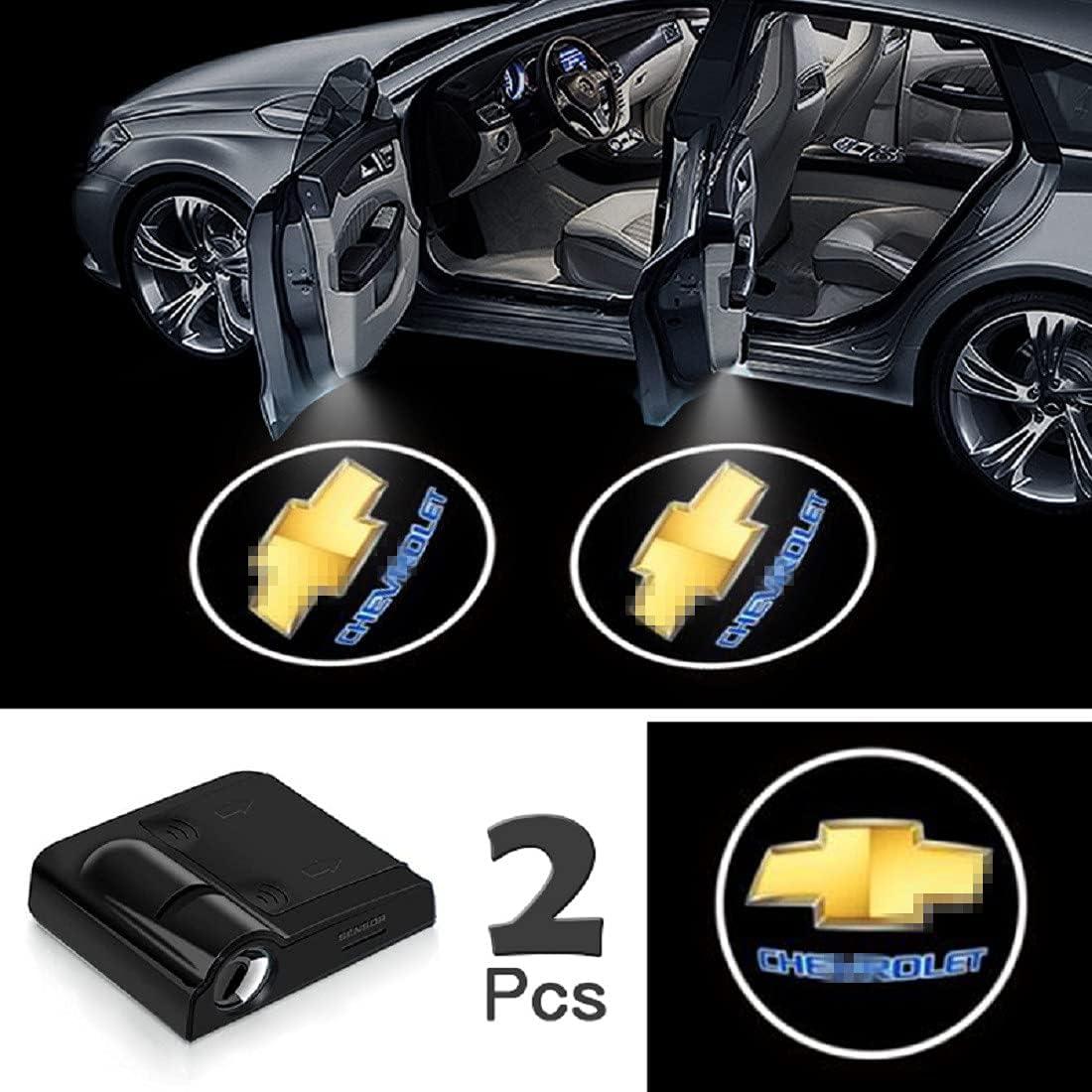 Universal Wireless Car Door Led Projector Lights FOR KIA BLUE 2Pcs of Car Door Lights Logo Projector Upgraded Car Door Welcome Logo Projector Lights for All Car Models
