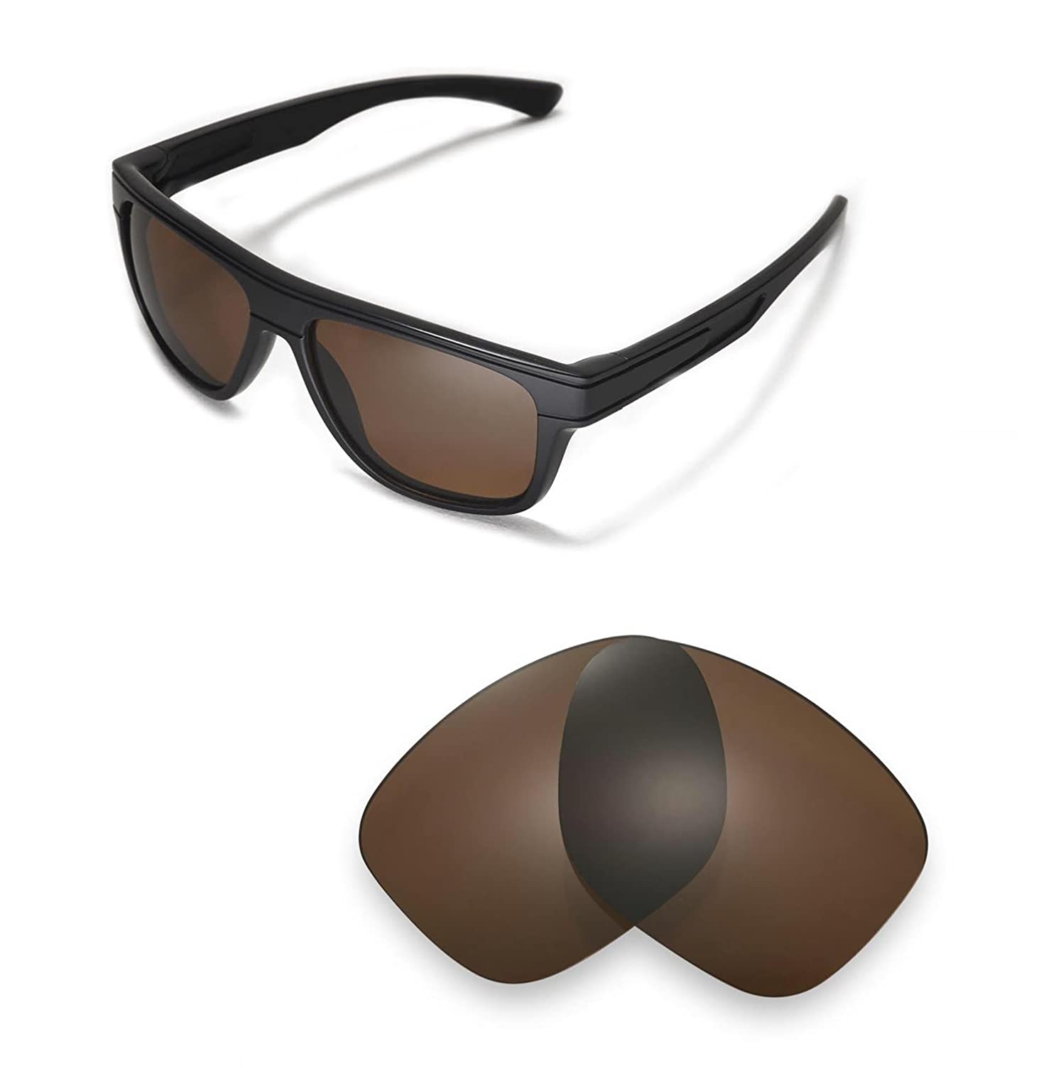 c4c4256a689 Walleva Replacement Lenses for Oakley Breadbox Sunglasses -Multiple Options  (Brown - Polarized)
