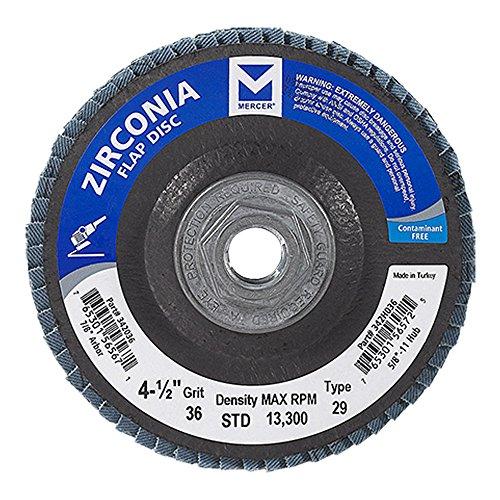 Mercer Industries 342H036 Zirconia Flap Disc, Type