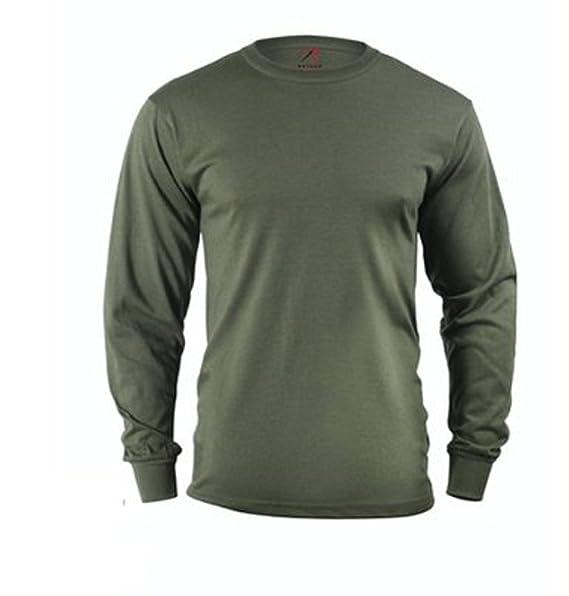 Amazon.com  Olive Drab Long Sleeve T-Shirt (Large)  Military Apparel ... 7f435dd6d15