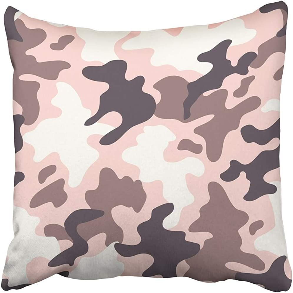 Amazon Com Staroutah Throw Pillow Cover 18 X18 Decorative Polyester Pink Camouflage Modern Trendy Camo Pattern Girl Bdu Camel Army Baffle Color Cryptic Pillowcase Print Two Sides Deco Home Home Kitchen