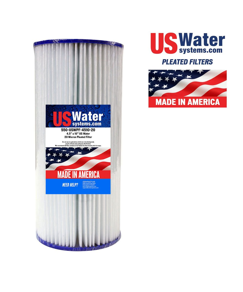 US Water 4.5 x 9.75 Pleated Filter Cartridge 20 Micron