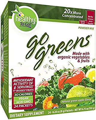 To Go Brands Go Greens, 24-Count Boxes