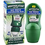 Mentholatum No Mess Vaporizing Rub with easy-to-use Roll On Applicator, 1.76 Ounce (50g) -Pack of 3