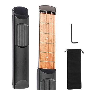 FOONEE Guitarra para Principiantes, Guitarra de Bolsillo Portátil, Guitarra Acústica Instructor de Acordes Herramienta de Práctica de Guitarra, ...