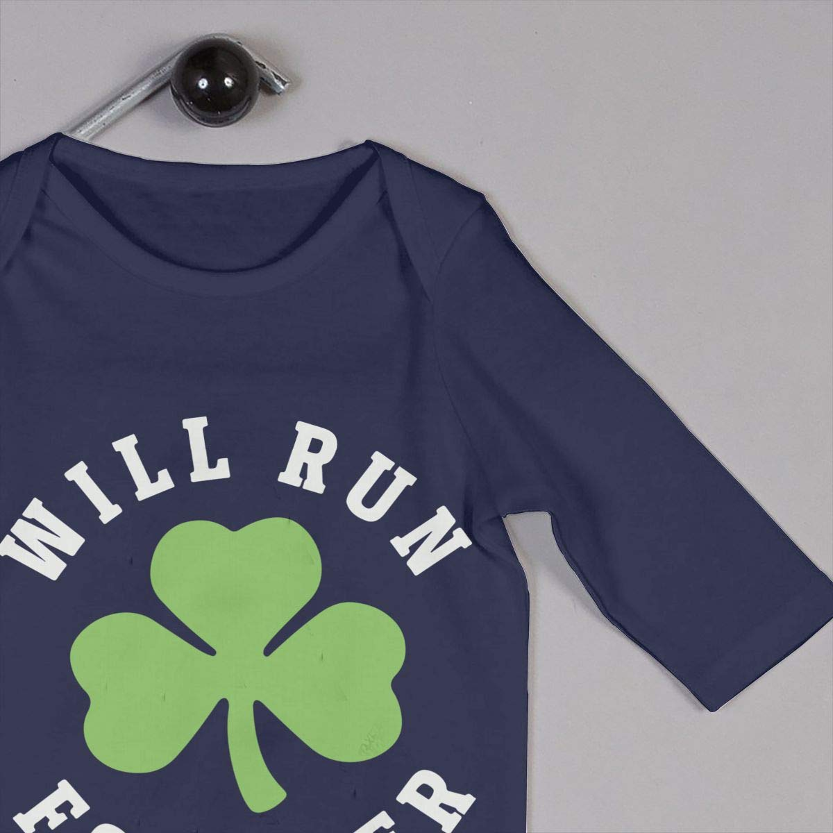 LBJQ8 Will Run for Beer St Patricks Day Baby Girls Sleep and Play Jumpsuits Playsuit Outfits