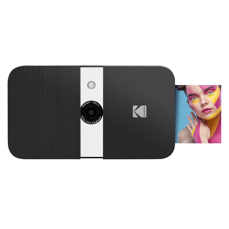 KODAK Smile Cámara digital de impresión instantánea – Cámara de 10MP que abre al deslizarse c/impresora 2x3 ZINK, Pantalla, Enfoque fijo, Flash ...