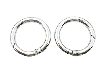 4 Pieces 1 25mm Gate Spring O Ring Round Carabiner Snap Clip