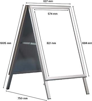 Greensen Plakatst/änder A1 Board Display Aluminium Posterhalter Kundenstopper Wetterfest Werbeaufsteller Klemmschienen Kundenstopper Gehwegaufsteller Werbetafel Outdoor Shop St/änder