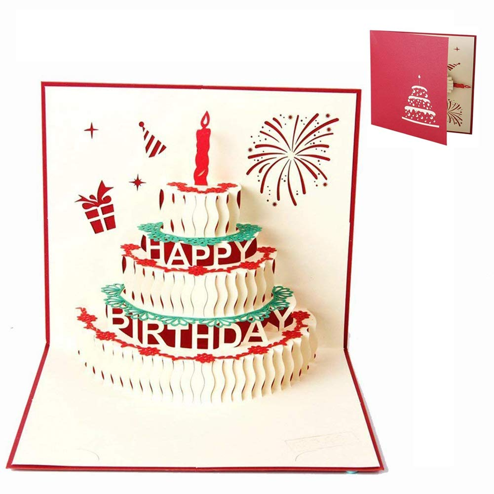 Simuer 4 Pack Handmade 3d Pop Up Wedding Greeting Card For