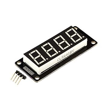 LoveOlvido TM1637 - Tubo de reloj digital LED de 4 bits para Arduino (0,