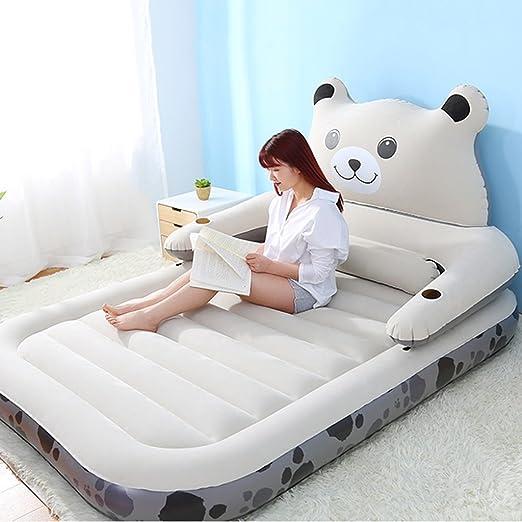 Colchón inflable lindo perezoso del sofá doble de la ...