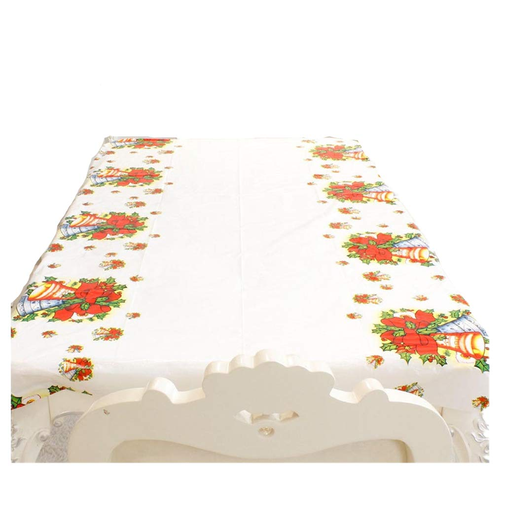 Amaping-433-x-709-Snow-Flake-Vintage-Flower-Cedar-Disposable-PVC-Merry-Christmas-Printed-Rectangular-Cartoon-Tablecloth