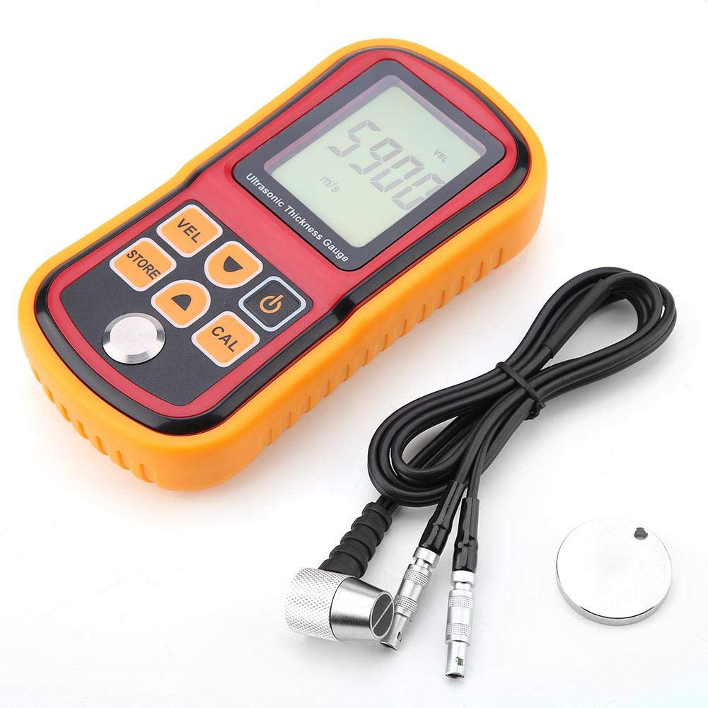 Ultrasonic Thickness Gauge Tester Meter,REALM-ARK GM100 Digital Ultrasonic Thickness Gauge 1.2-220mm Steel Width Testing Monitor