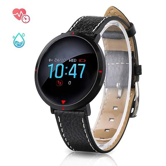 GOKOO Reloj Inteligente Mujer Smartwatch Fashion Deporte Fitness Tracker Pulseras de Actividad Reloj de Fitness Impermeable IP67 con Pulsómetros Podómetro ...